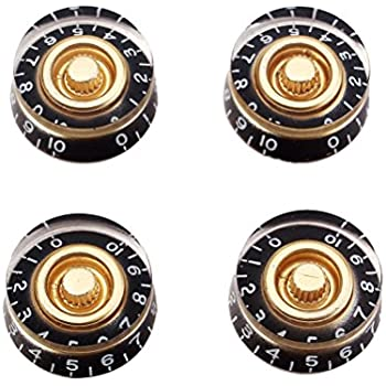 healifty 4pcs guitar speed volume tone control knobs for gibson epiphone style. Black Bedroom Furniture Sets. Home Design Ideas