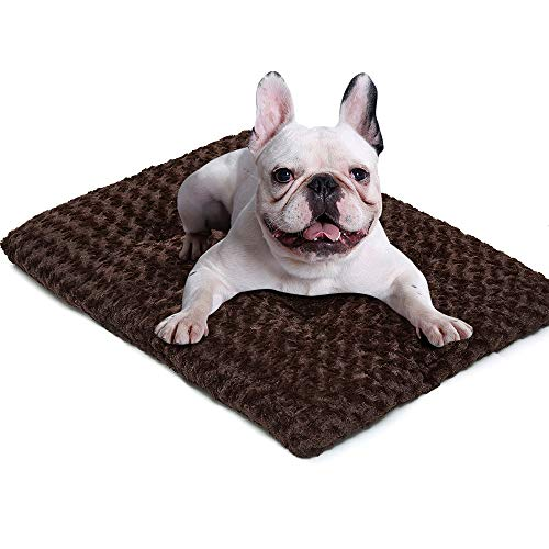 Auboa Deluxe Cat Dog Bed - Plush Pet Beds Ideal for Crate Kennel Cage House - Durable & Washable Cushion Mattress for Sleeping(DarkCoffee-XL)