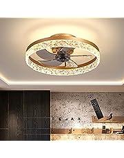 Onzichtbare led-plafondventilator, licht, slaapkamer, eetkamer, woonkamer, lamp, ventilator met afstandsbediening, plafondventilator, licht, moderne minimalistische plafondlamp met ventilator, 50 cm