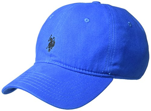 U.S. Polo Assn. Men's Washed Twill Baseball Cap, 100% Cotton, Royal, One Size
