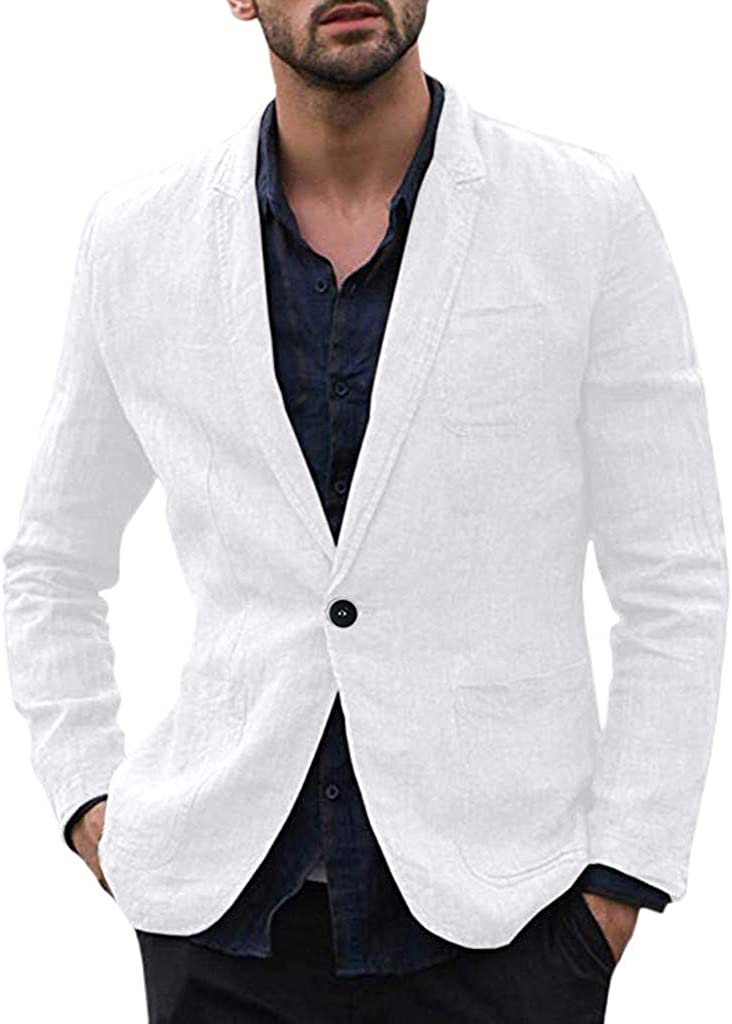 Herren Sakko Anzug Blazer Top Slim Fit Freizeit Sweatjacke Business Jacke Mantel