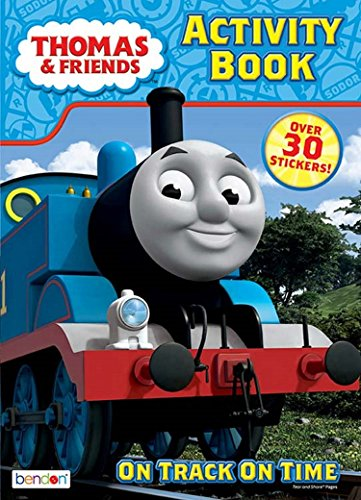 - Thomas & Friends On Track On Time Coloring and Activity Book - Includes Over 30 Stickers