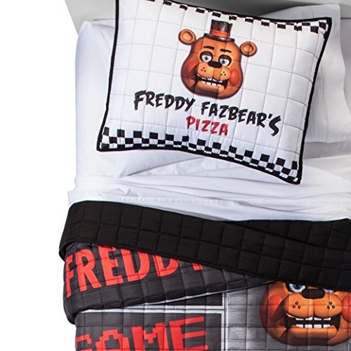 Five Nights at Freddy Fazbear's Pizza Quilt & Sham Set, (Five Sets)