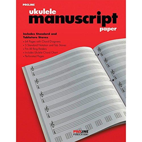 Proline Ukulele Manuscript Paper Pad product image