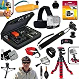 Xtech Ideal Accessory Kit for GoPro HERO4 Hero 4, GoPro Hero3+, GoPro Hero3, GoPro Hero2, GoPro HD Motorsports HERO, GoPro Surf Hero, GoPro Hero Naked, GoPro Hero 960, GoPro Hero HD 1080p, GoPro Hero2 Outdoor Edition Digital Cameras Includes Head Strap Mount, 12' inch Highly Flexible Tripod, 16GB High Speed Memory Card + Custom Large size Case + Hand Held Monopod + Sealed Floating Bobber Handle + Remote Wrist Strap + Floating Foam Strap + Universal Card Reader + Mini Table Tripod + Ultra Fine HeroFiber Cleaning Cloth