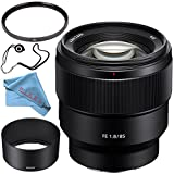 Sony FE 85mm f/1.8 Lens SEL85F18 + 67mm UV Filter + Fibercloth + Lens Capkeeper Bundle