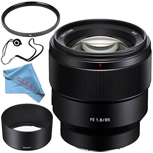 Sony FE 85mm f/1.8 Lens SEL85F18 + 67mm UV Filter + Fiberclo