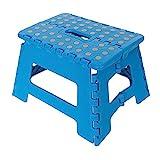 Silverline Tools Folding Step/Stool 150kg, Blue, 25 x 3 x 25 cm
