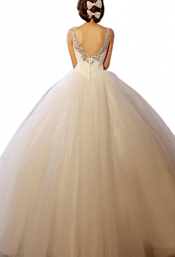 Dearta Womens Ball Gown Wedding Dresses With Crystal