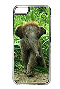 Baby Elephant in the Jungle - Iphone 5C plastic CLEAR case - compatible with iPhone 5C only - CHOOSE YOUR COLOR