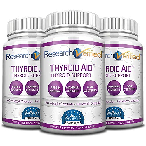 Research Verified Thyroid Aid - With Iodine, Vitamin B12, Selenium, Coleus Forskholii, Kelp, Ashwaghnada & More - 100% Pure, No Additives or Fillers - 100% Money Back Guarantee - 3 Months Supply by Research Verified (Image #8)
