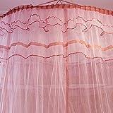 Mosquito Luxury Princess Bed Net Canopy Round Hoop