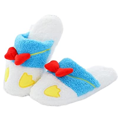 Janeyer Unisex Cute Soft Ankle Warm Fleece House Slippers Winter Indoor Home Shoes