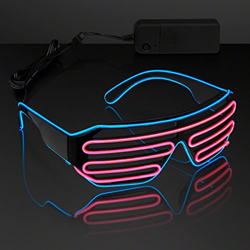 Totally '80s EL Wire Glow Shades - Blue & Pink