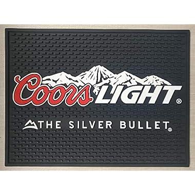 Coors Light The Silver Bullet Bar Mat Professional Spill Mat Wait Station Drip Mat 12x9 Coaster