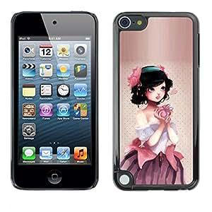 Be Good Phone Accessory // Dura Cáscara cubierta Protectora Caso Carcasa Funda de Protección para Apple iPod Touch 5 // Cute Apple Princess