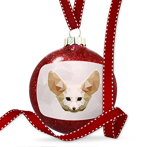 Christmas Decoration Low Poly zoo Animals Fennec Fox Ornament by NEONBLOND