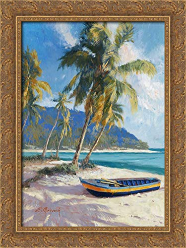 Island Dream 19x24 Gold Ornate Wood Framed Canvas Art by Mirkovich, ()