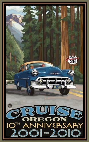 Northwest Art Mall Cruise Oregon 10th Anniversary 2001-2010 Road Trip Woods Unframed Prints by Paul A Lanquist, 11-Inch by 17-Inch