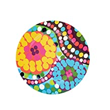 French Bull-Melamine Dinner Plate-11-Inch for Indoor and Outdoor Dining-Bindi, Multicolored