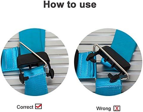 BlueCosto Naranja TSA Correas para Equipaje Maleta con Candado de 3 Diales de Viaje Luggage Strap