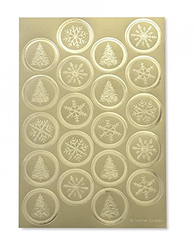 Gold Foil Holiday Seals - 40 CT - Seals Holiday