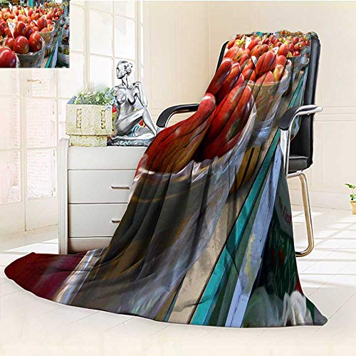(YOYI-HOME Duplex Printed Blanket 300 GSM Anti-Static Super Soft Apple iPhone iPod Warm Microfiber All Season Bed Blanket Couch Blanket/31.5