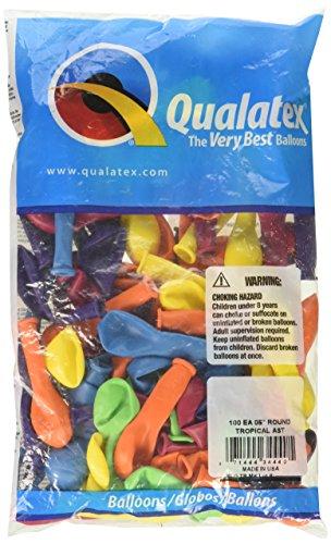 Qualatex Q05104 34440 TROPICAL ASSORTMENT, 5 Inch