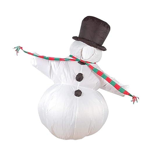 Blue-Yan Disfraz Hinchable de muñeco de Nieve para Adultos ...