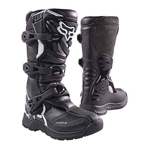 Fox Racing 2019 Youth Comp 3 Boots (6) (Black) (Dirt Bike Boots Youth)