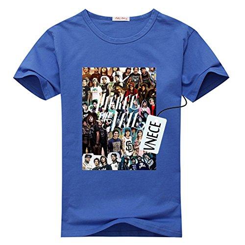 DIY Pierce the veil Men's O-neck Tee Shirt, Customized 100% Cotton T-shirts