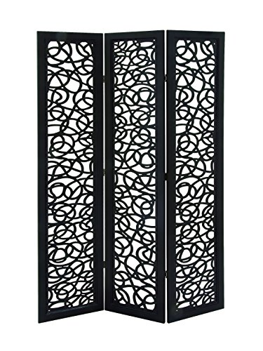 Deco 79 62596 Beautiful And Lovely 3 Panel Wooden Screen, 48
