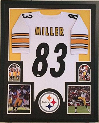 Heath Miller Autographed Custom Framed Pittsburgh Steelers Jersey JSA Witnessed (Heath Miller Autographed Steelers Jersey)
