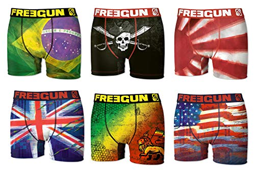 Arrivages Modèles En Freegun Fgp46 Microfibre assortiments Photos 6 Pack De Selon Homme Flag Boxer w00ZxqvC