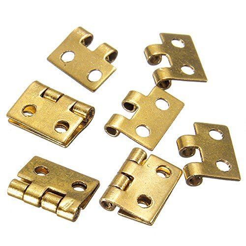 5pcs Mini Metal Hinges For 1/12 Dollhouse Miniature Furniture by NAVA