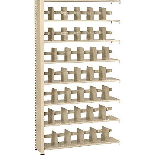Tennsco 248848AC Imperial Open Shelf Filing Unit, Double Entry Add-On, 8 Shelves / 7 Openings, 48