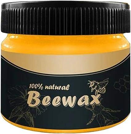 Abrillantador de madera para madera y muebles, limpieza del hogar, condimentos de madera natural, cera de abeja, pulido de muebles (A, cera de abeja)