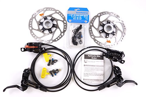 Hydraulic Front Disc Brake Rotor (Shimano Deore BL-M615 BR-M615 Hydraulic Disc Brake Set + 2pcs)