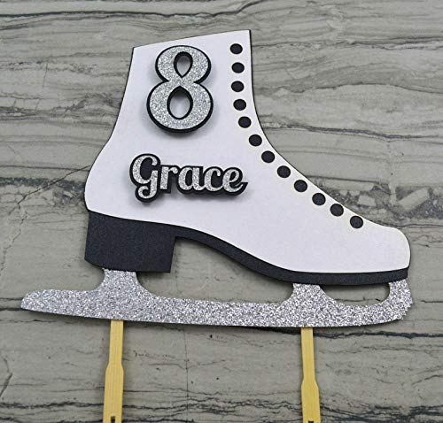 Ice Skate Cake Topper Personalized with Name and Age