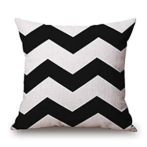 Pillowcases Black and white color big wave 18x18(inches)