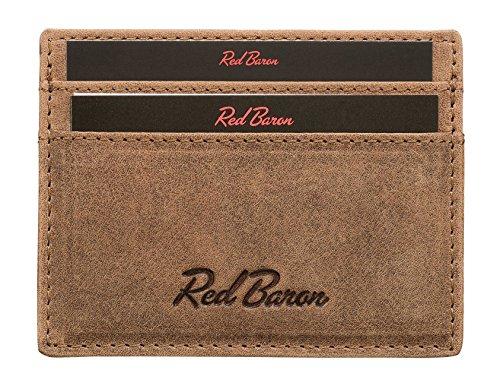Exclusif Classique De Carte Rb En Red Cuir Marron 05 Véritable 001 cc Vache Design Baron Cas Crédit Homme 7txOSx