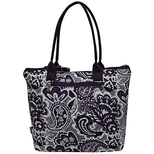 Paisley Tote Spring Medium Collection Cotton Purple Bag Quilted 2018 Park Ngil 18qaPfx