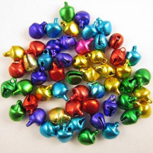 olor Iron Christmas Jingle Bells 8x6mm (Color Silver) (Jingle Bells Party Collar)