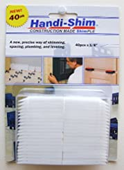 Handi-Shim HS1840WH Plastic Construction...
