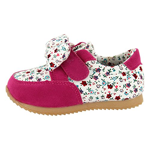 maxu Fashion fleur baskets bébé fille - rouge - rose, 39.5