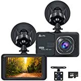 Accfly Dash Cam 1080P 170° Wide Angle Lens 3.0 LCD Screen Car Dash Camera DVR Recorder With G-Sensor, Loop Recording, Motion Detection,Vehicle Rear Camera,16GB Card