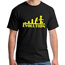 Crazy Happy Tees Men's Lego Evolution T-shirt Black