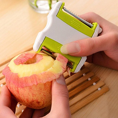 TAOtTAO Two-in-One Paring Knife Scraper Fruit and Vegetable Planer...