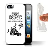 Stuff4 Gel TPU Phone Case/Cover for Apple iPhone 5/5S / Land Loot Build Design/FN Battle Royale Collection