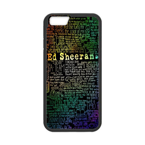 Fayruz- Personalized Protective Hard Textured Rubber Coated Cell Phone Case Cover Compatible with iPhone 6 & iPhone 6S - Ed Sheeran F-i5G797